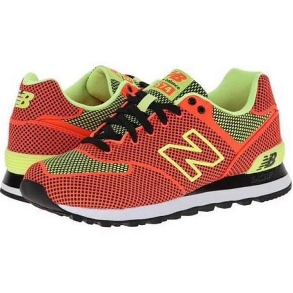 New Balance 574 Woven Pack Neon Orange Size 7. M 5a8770ab739d489d3e4f017b 99fae38806